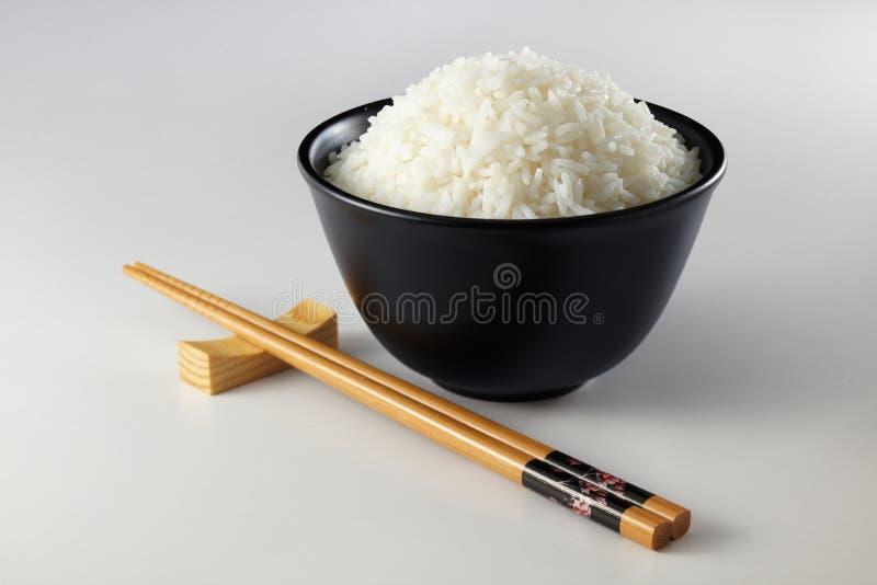 Eetstokje en rijst royalty-vrije stock foto's