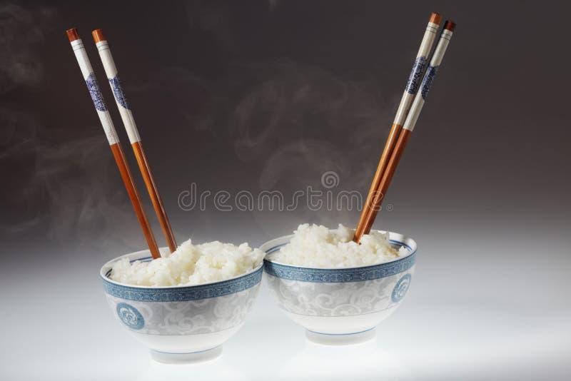 Eetstokje en rijst stock fotografie