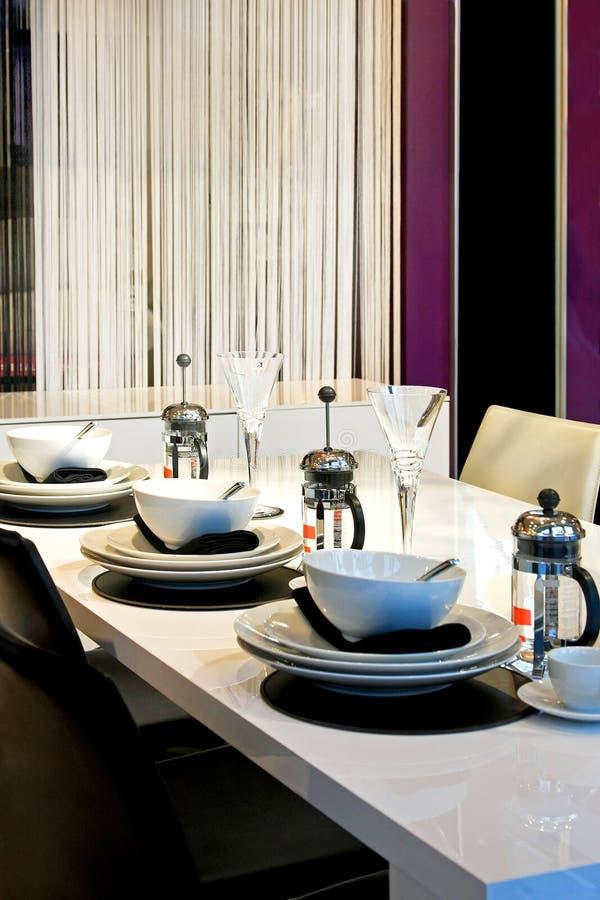 Eettafel royalty-vrije stock fotografie