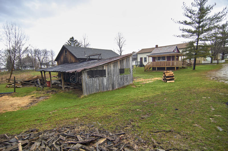 Eeuwdorp - Burton, Ohio stock afbeeldingen