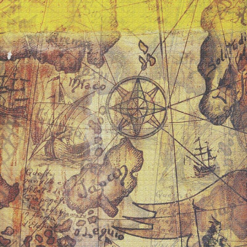Eeuwenoude kaart royalty-vrije illustratie