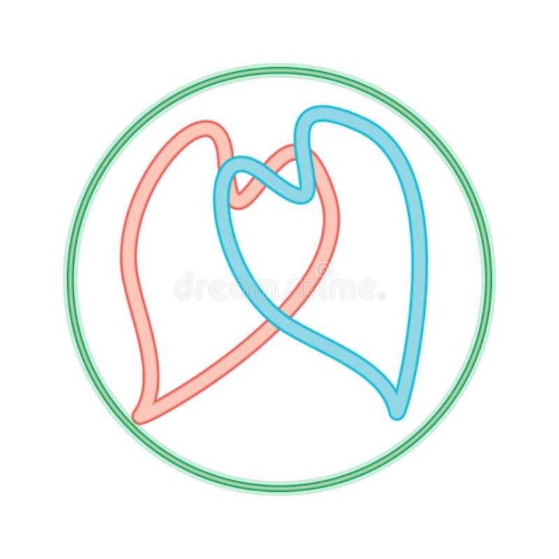 Eeuwige Liefde stock illustratie