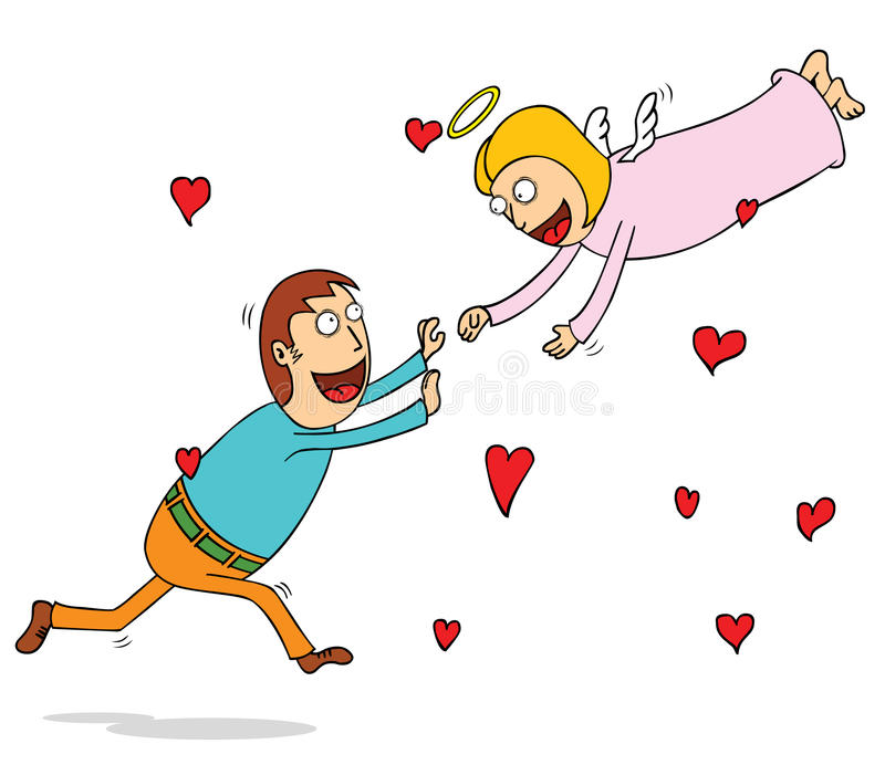 Eeuwige liefde vector illustratie