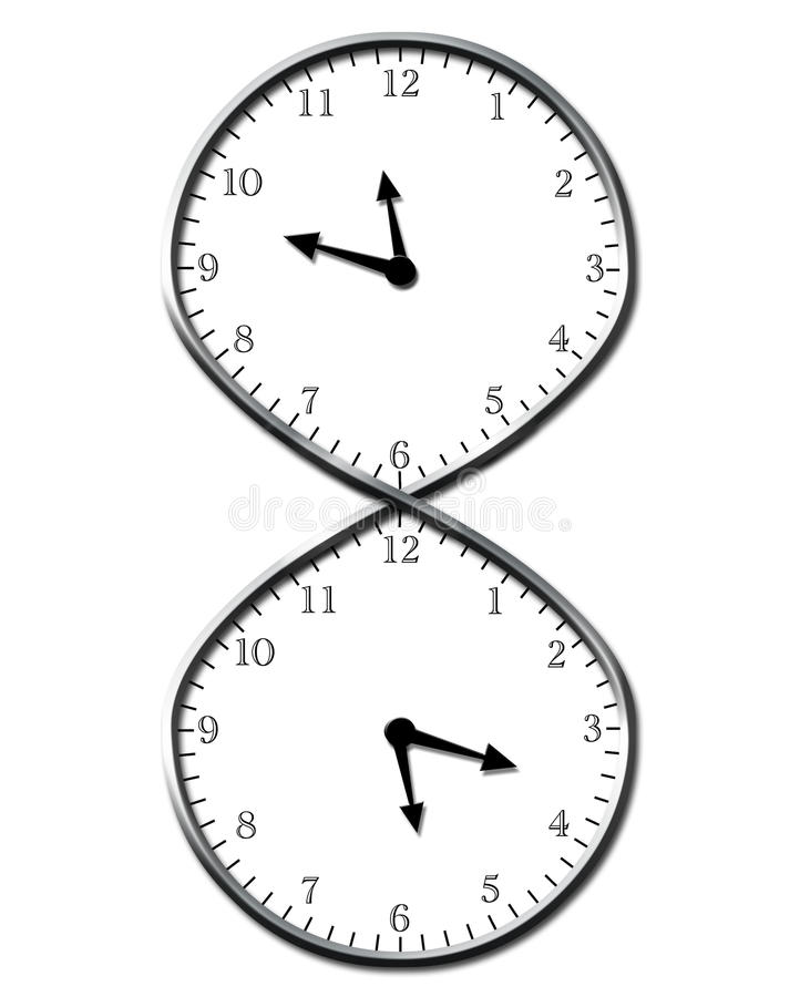 Eeuwige Tijd vector illustratie