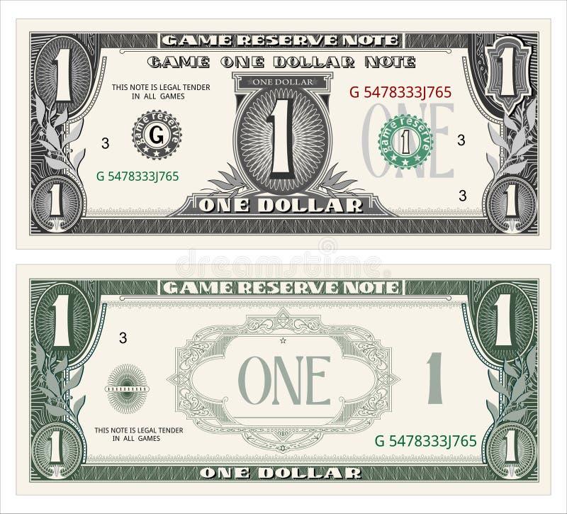 Efectivo, dólar stock de ilustración