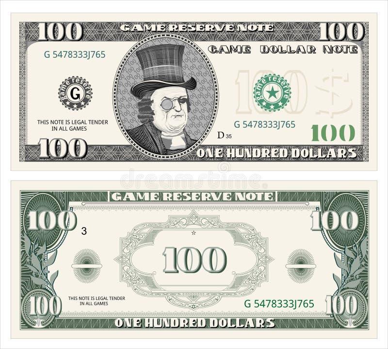 Efectivo, dólar ilustración del vector