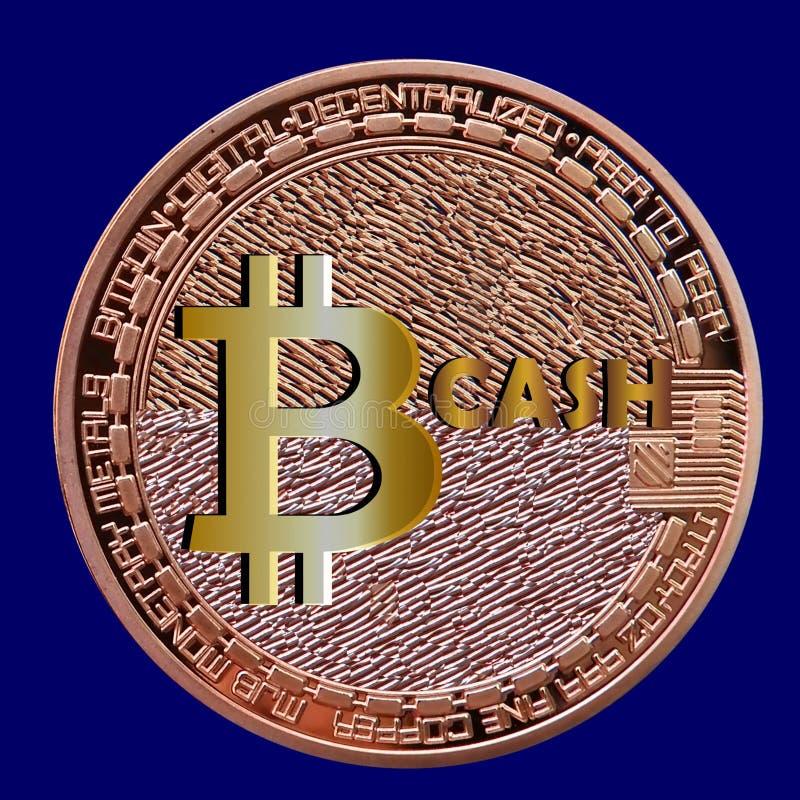 Efectivo de Bitcoin - nueva moneda después de la bifurcación stock de ilustración