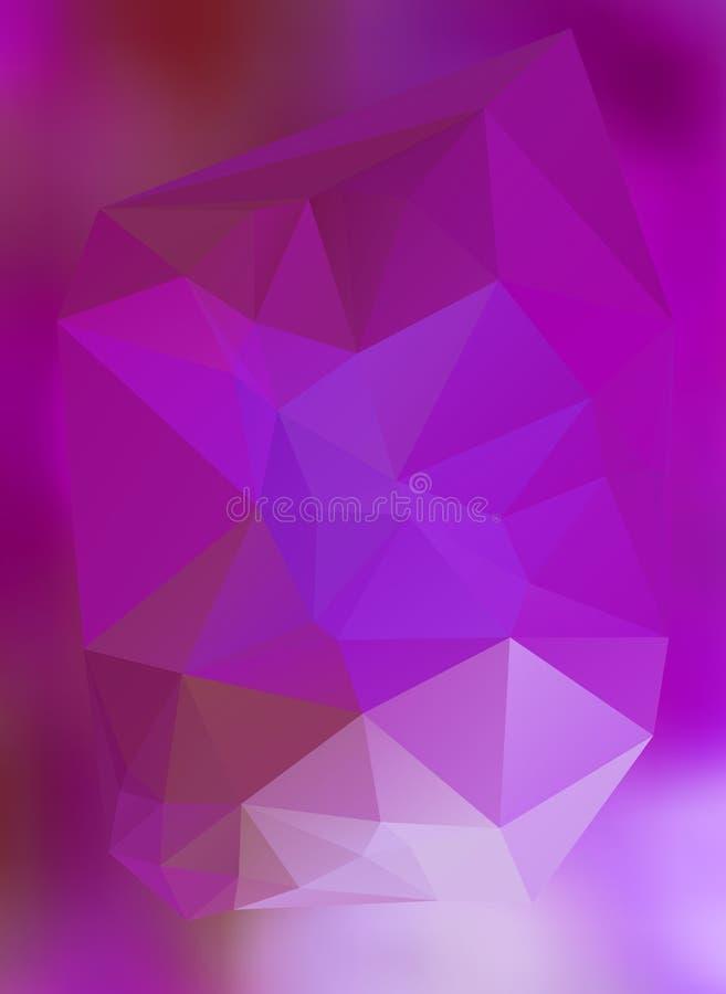 Efecto abstracto moderno light32 que brilla intensamente de los triángulos 3d del fondo stock de ilustración