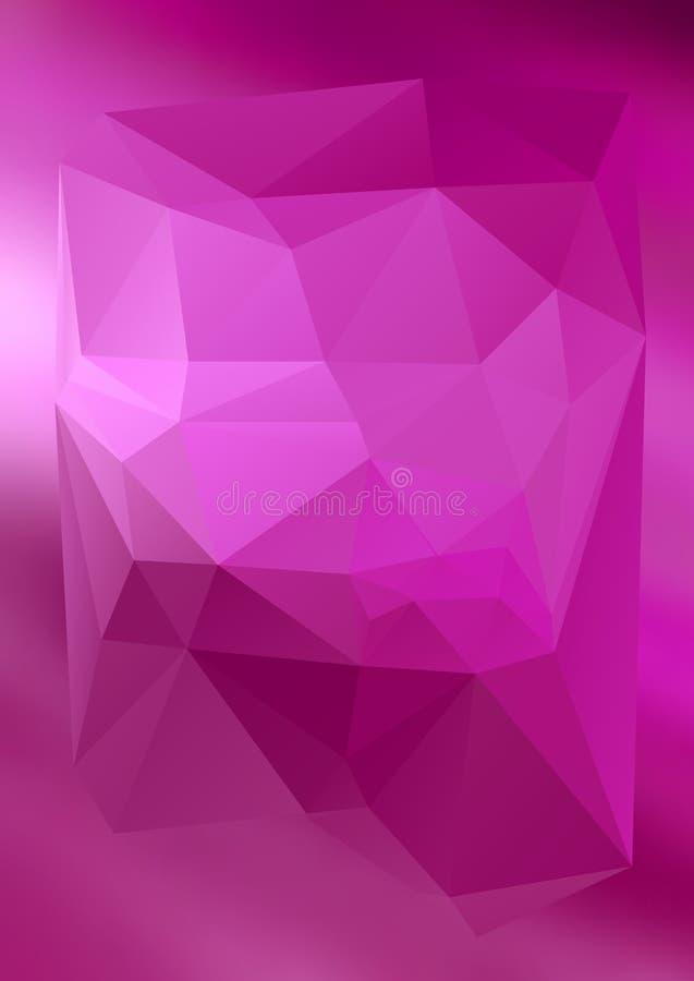 Efecto abstracto moderno light66 que brilla intensamente de los triángulos 3d del fondo ilustración del vector