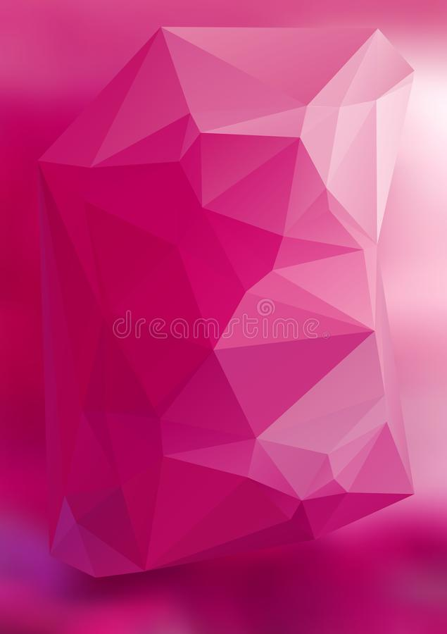 Efecto abstracto moderno light42 que brilla intensamente de los triángulos 3d del fondo libre illustration