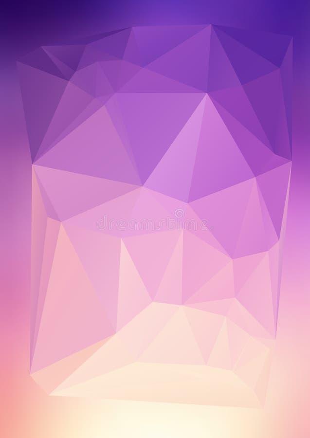 Efecto abstracto moderno light53 que brilla intensamente de los triángulos 3d del fondo libre illustration