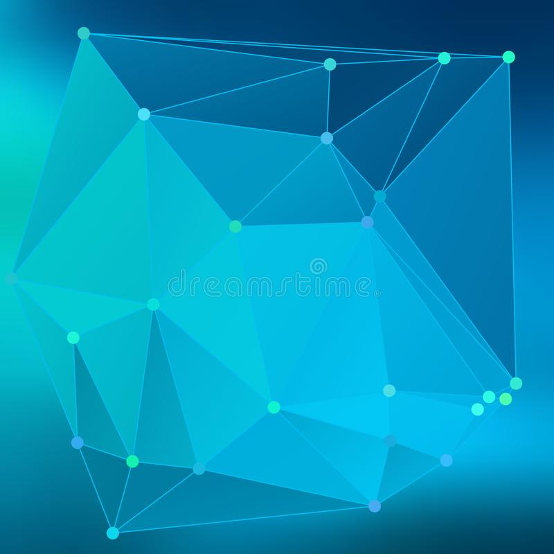 Efecto abstracto moderno light100 que brilla intensamente de los triángulos 3d del fondo stock de ilustración