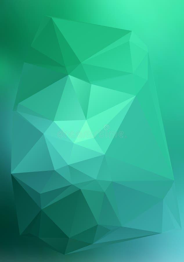 Efecto abstracto moderno light11 que brilla intensamente de los triángulos 3d del fondo stock de ilustración