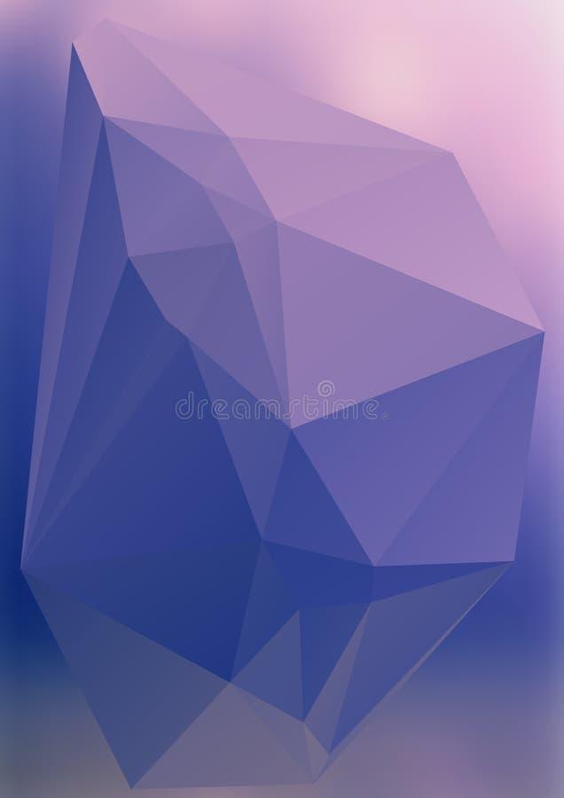 Efecto abstracto moderno light23 que brilla intensamente de los triángulos 3d del fondo libre illustration