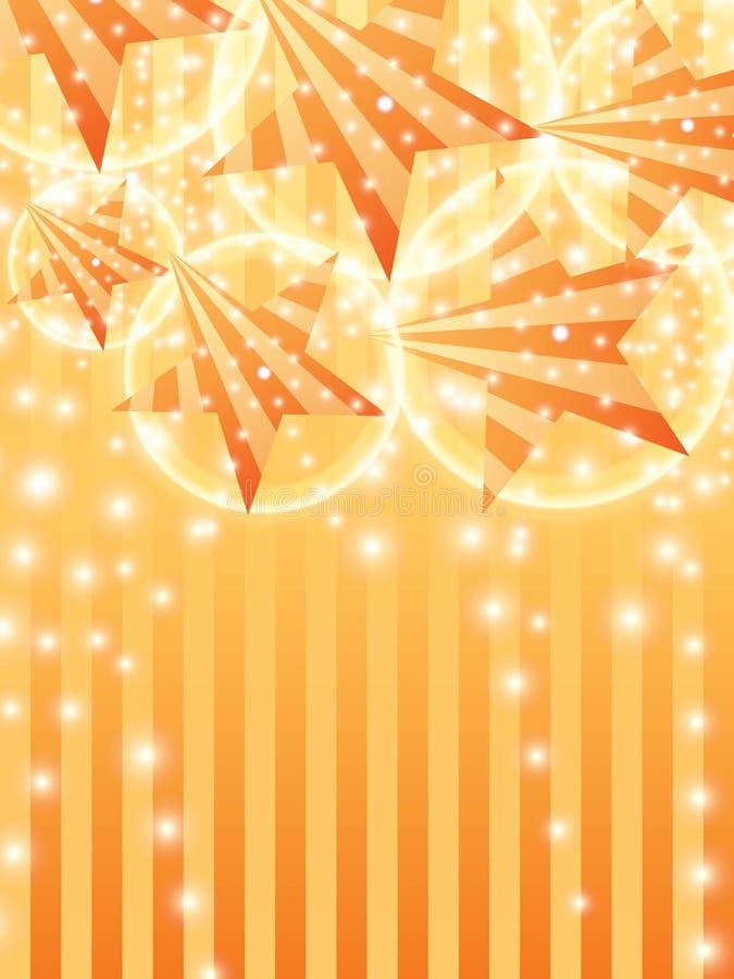 Efecto anaranjado vertical del cielo del rayo lateral de la estrella stock de ilustración