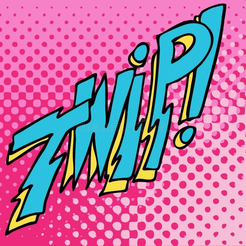 Efecto cómico del texto de los sonidos de Twip ilustración del vector