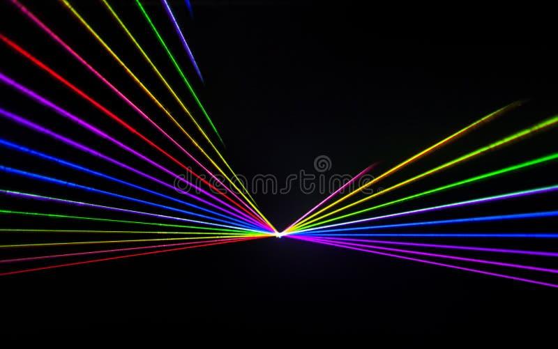 Efecto colorido del laser fotos de archivo