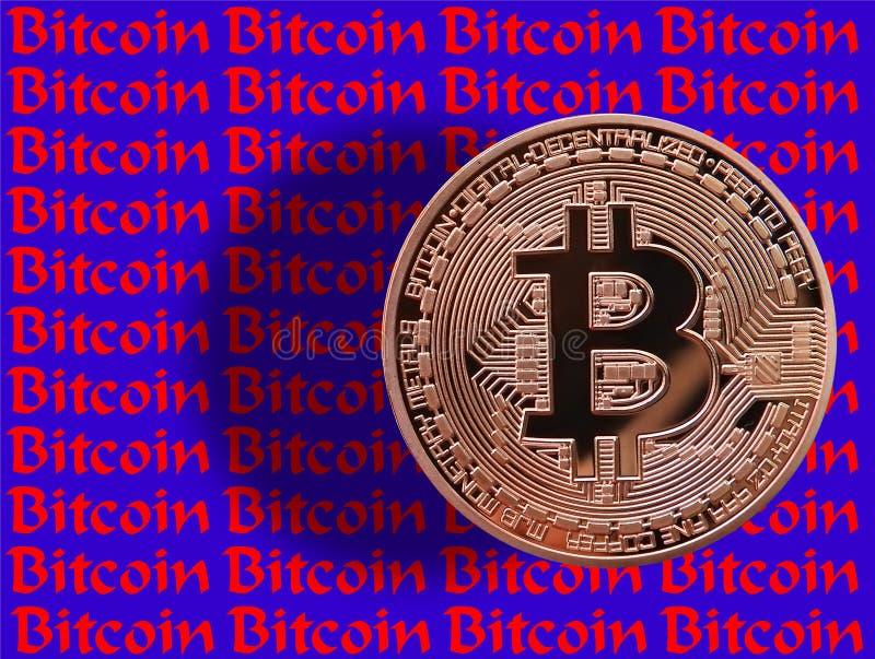 Efecto de Bitcoin 3D ilustración del vector