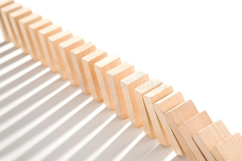 Efecto de dominó imagen de archivo