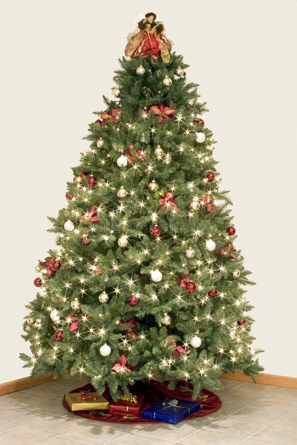 Efecto de la estrella del árbol de navidad fotografía de archivo