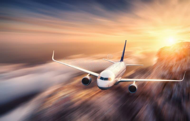Efecto de la falta de definición de movimiento del mith del aeroplano del pasajero foto de archivo