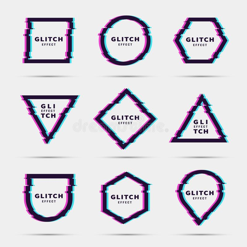 Efecto de la interferencia para el marco ilustración del vector