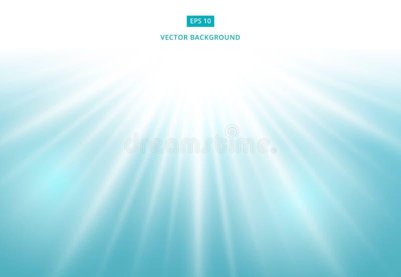 Efecto de la luz del sol del vector sobre fondo azul libre illustration