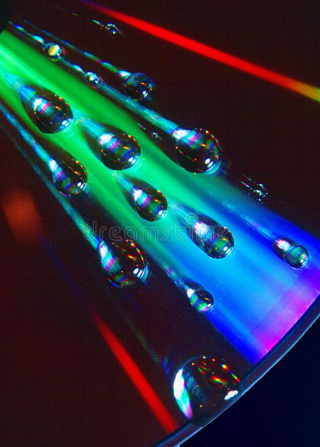 Efecto de la prisma sobre superficie CD fotografía de archivo libre de regalías