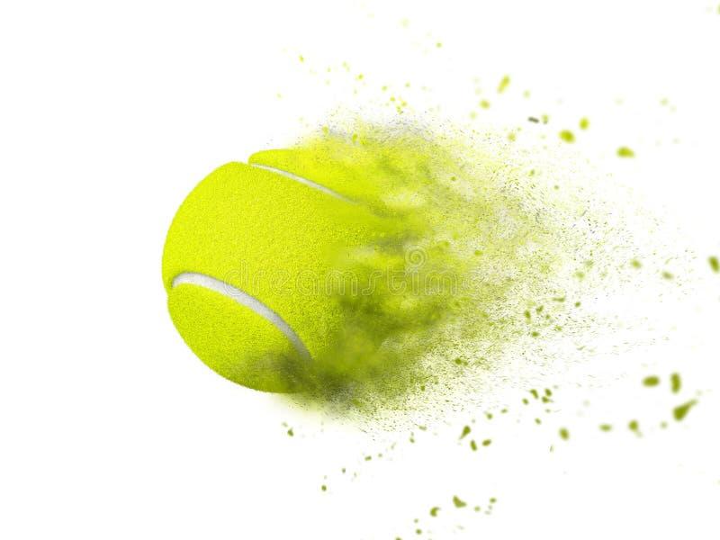 Efecto de la velocidad de la pelota de tenis aislado sobre blanco foto de archivo libre de regalías
