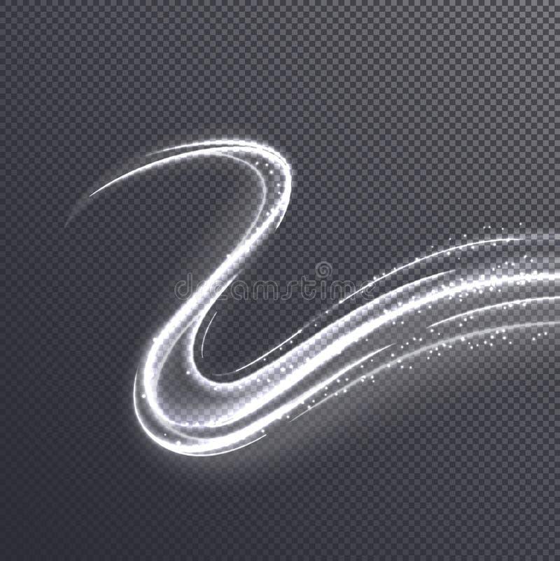Efecto de oro brillante de la onda sobre fondo transparente Ilustración del vector libre illustration