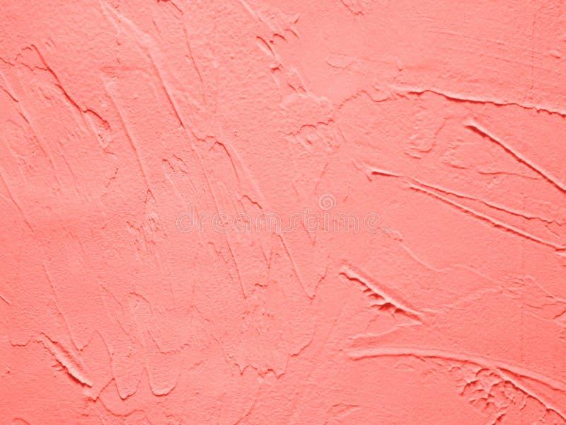 Efecto decorativo coralino de vida del yeso foto de archivo