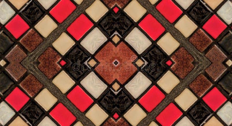 Efecto del espejo sobre las pequeñas tejas ilustración del vector