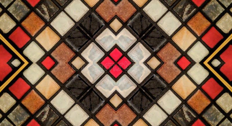 Efecto del espejo sobre las pequeñas tejas libre illustration