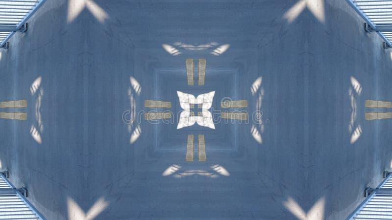 Efecto del espejo sobre un paso superior ilustración del vector