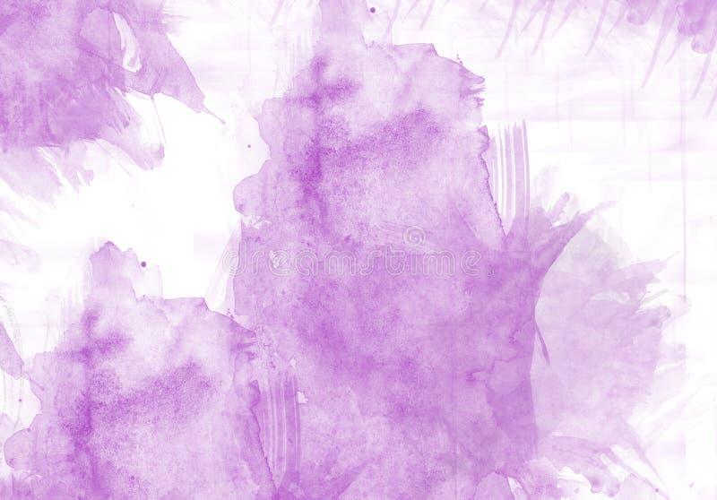 Efecto del gráfico del movimiento del cepillo del color de agua imagenes de archivo