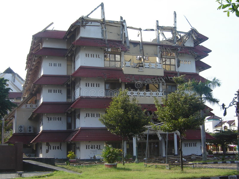 Efecto del terremoto imagenes de archivo