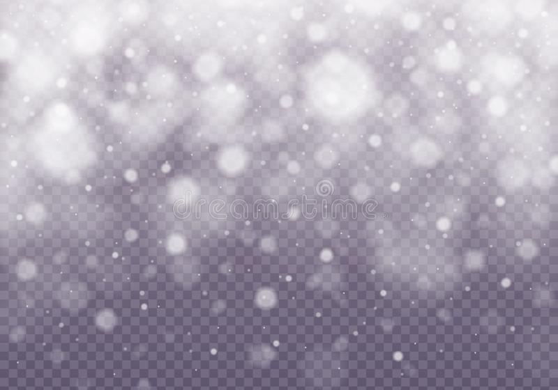 Efecto descendente de la nieve del vector libre illustration