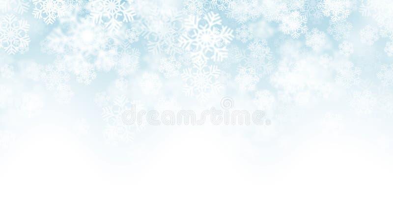 efecto descendente de la nieve del vector 3D libre illustration