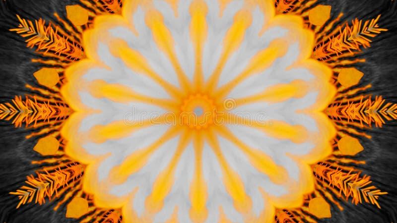 Efecto duplicado de una flor del iris ilustración del vector