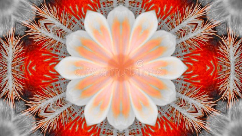 Efecto duplicado de una flor del iris libre illustration
