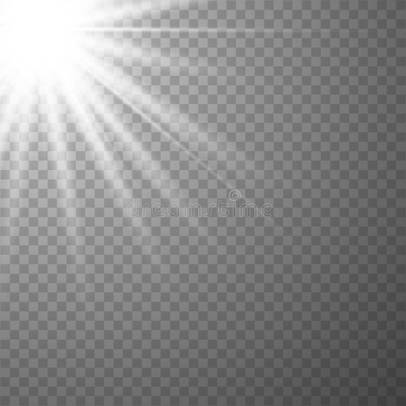 Efecto especial de la flama ligera ilustración del vector