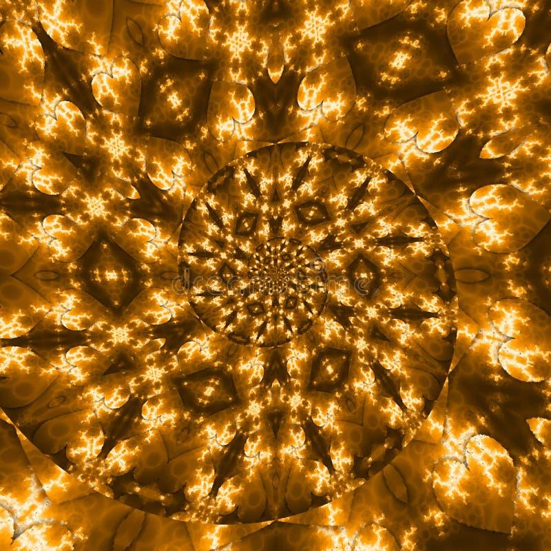 Efecto espiral dorado brillante sobre fondo a cuadros Efecto de movimiento de velocidad de la luz abstracta Sendero ondulado bril foto de archivo