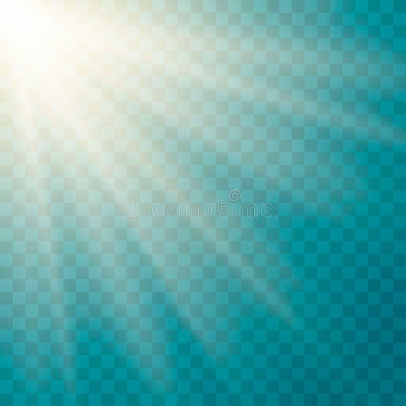 Efecto luminoso de la llamarada de la lente libre illustration