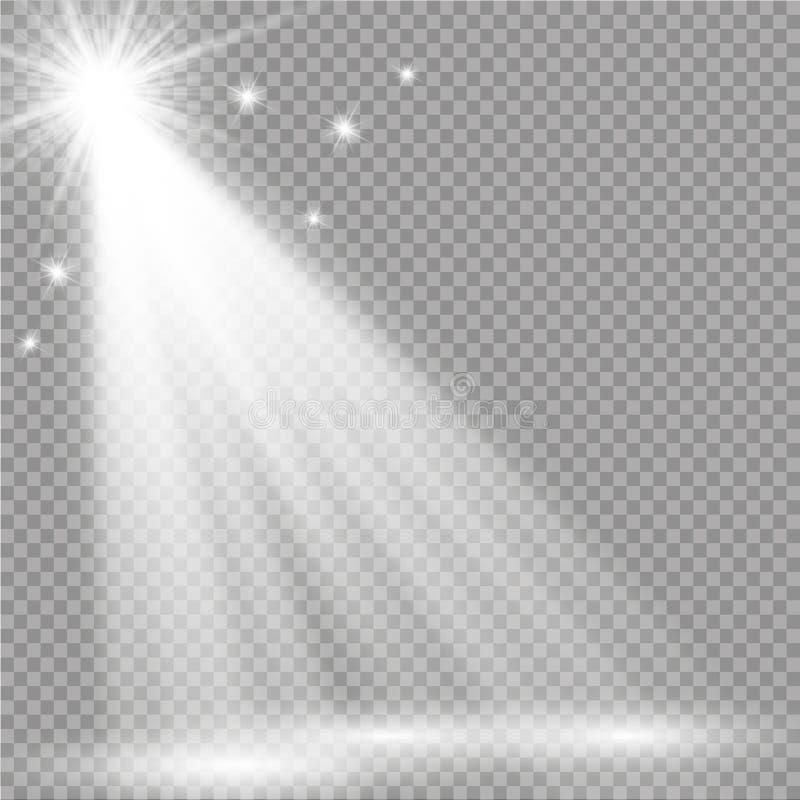 Efecto luminoso de la luz del sol del vector de la llamarada especial transparente de la lente fotografía de archivo libre de regalías