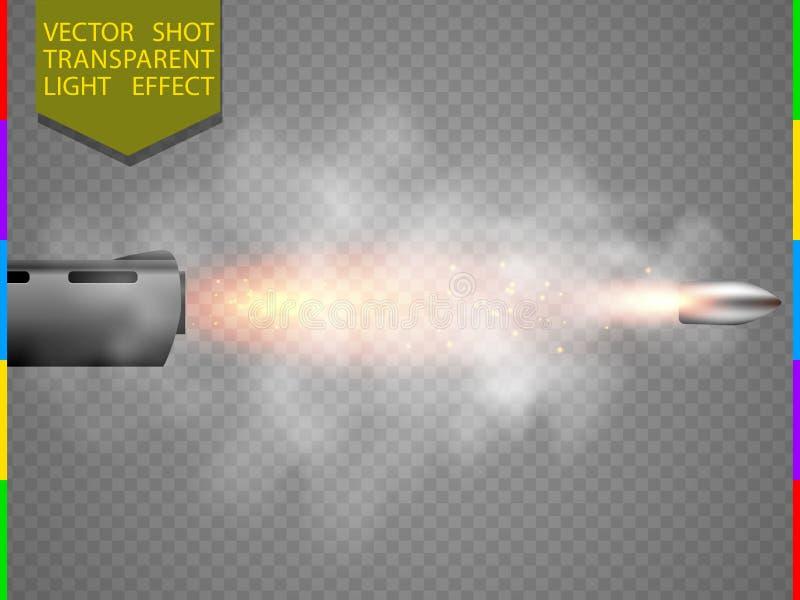 Efecto luminoso del flash transparente del tiro del vector ilustración del vector