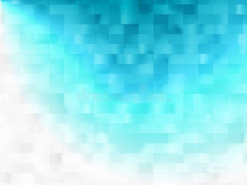 Efecto luminoso del fondo azul stock de ilustración