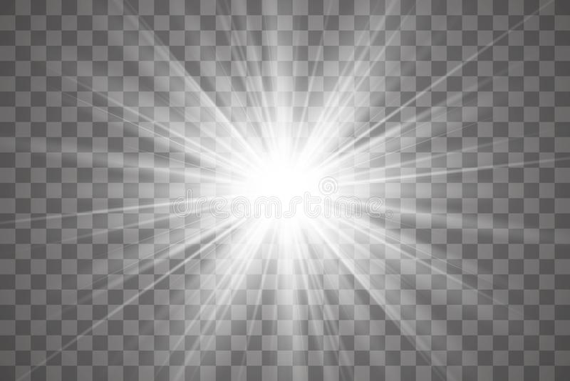Efecto luminoso del resplandor libre illustration
