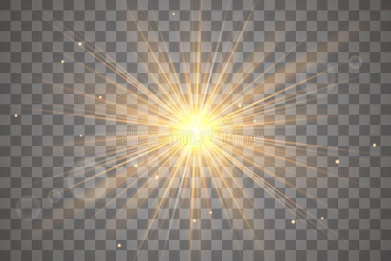 Efecto luminoso del resplandor ilustración del vector
