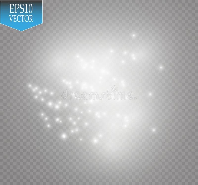 Efecto luminoso del resplandor Nube del ejemplo del vector del polvo que brilla Navidad stock de ilustración