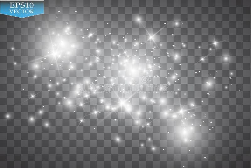 Efecto luminoso del resplandor Nube del ejemplo del vector del polvo que brilla Navidad ilustración del vector
